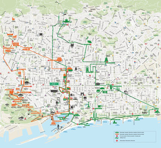 Plano de bus turistic y hop on hop off bus tour de Barcelona City Tour
